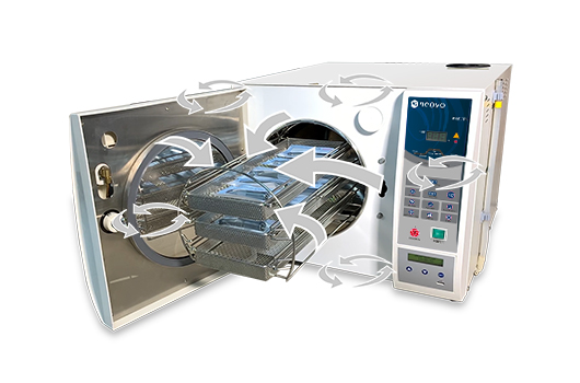 AG Neovo LouieP Séries tabletop autoclave sterilizer dynamic air removal technology