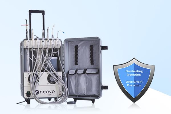 AG Neovo Healthcare PDE-181 可攜式行動牙科診療設備內建安全防護機制