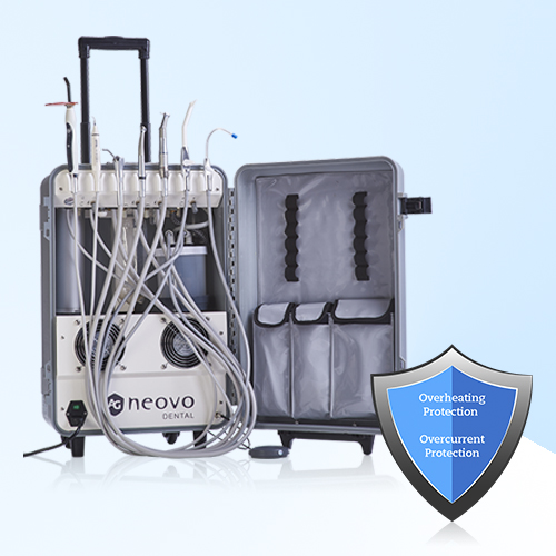 AG Neovo Healthcare portable dental unit features safety protection