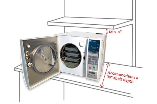 AG Neovo Healthcare LouieP Séries  tabletop autoclave location requirement